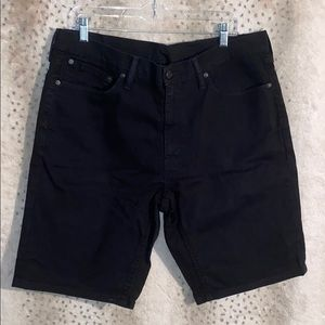 Men's black Levi jean shorts